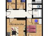 4-izbový byt, Bukureštská, osobné vlastníctvo, loggia