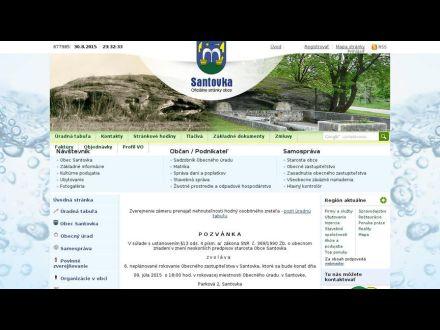 www.obecsantovka.sk