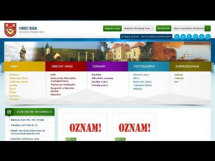 www.obecbab.sk