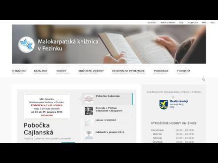 www.kniznicapezinok.sk
