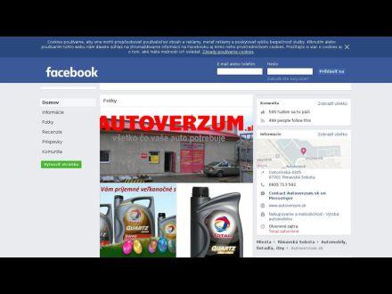 sk-sk.facebook.com/pages/Autoverzumsk/167520493271561