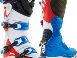 FOX BOOTS COMP 5 BOOT - BLUE/RED, MX18