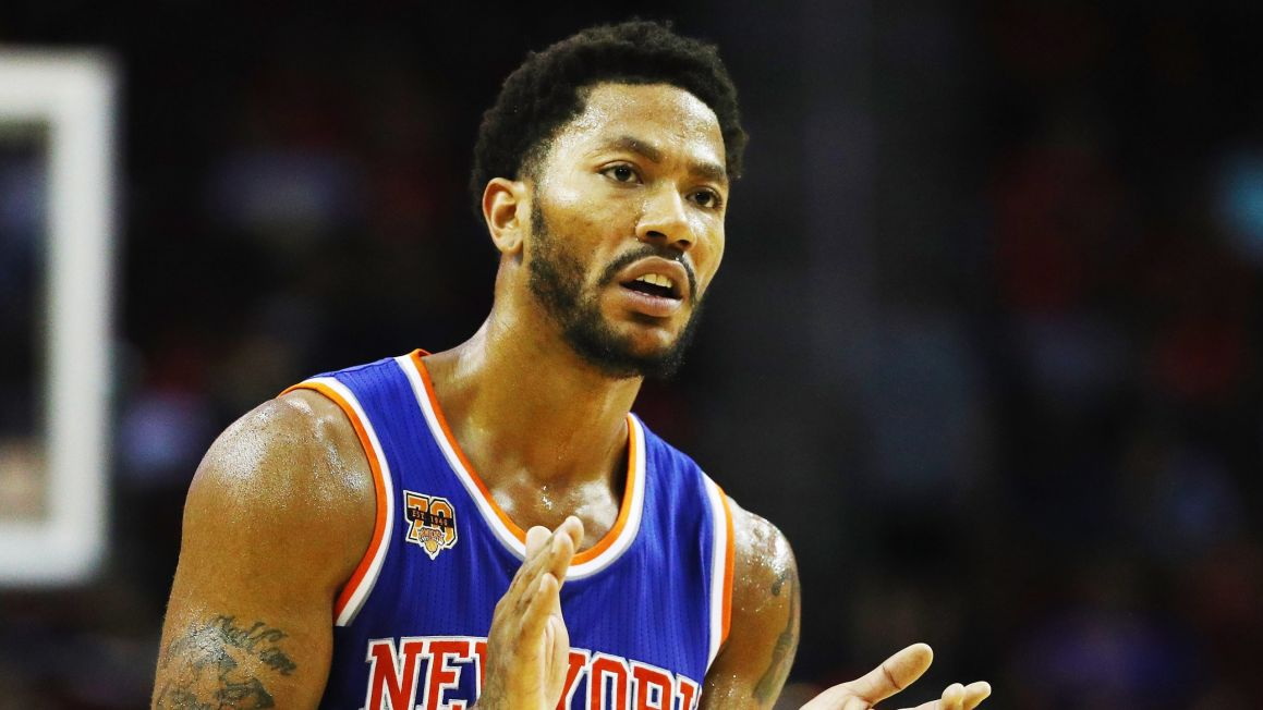 Derrick Rose v drese New York Knicks