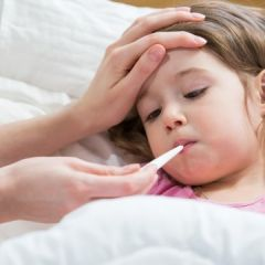 Sick child with high fever