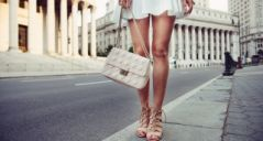 summer female casual street style outfit with luxury bag
