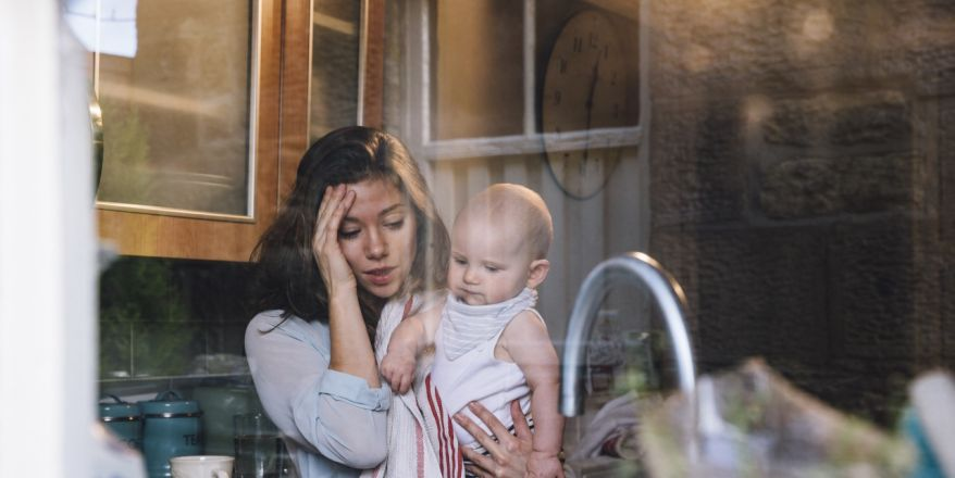 effect of single mothers stress on