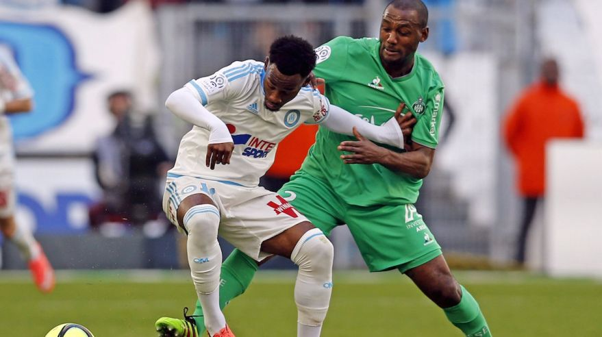 Olympique Marseille St. Etienne Georges Nkoudou Kevin Theophile Catherine feb16