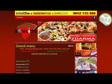 www.pizzabowling.sk