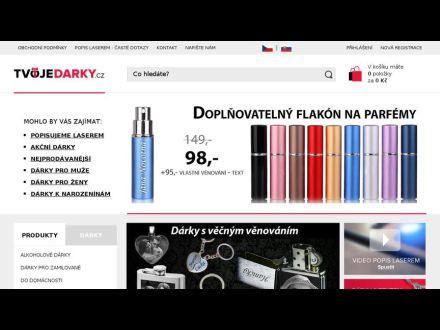 www.tvojedarky.cz