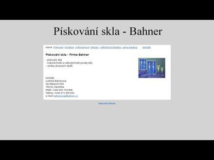 www.bahner.cz