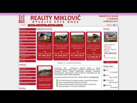 www.realitymiklovic.sk