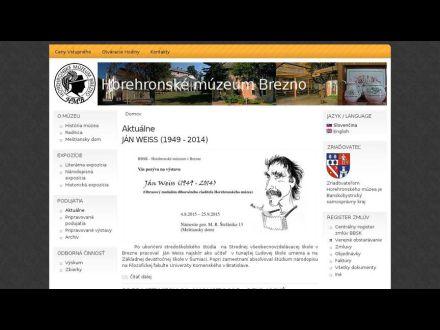 www.horehronskemuzeum.sk