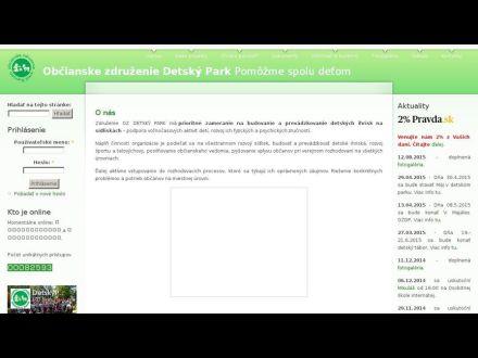 www.detskypark.sk