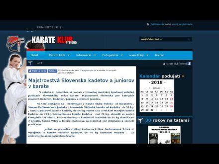 www.karatetrstena.sk