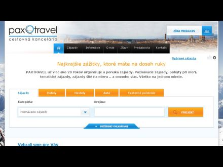 www.paxtravel.sk