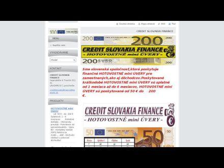 www.creditslovakiafinance.webnode.sk