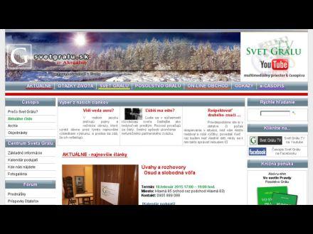 www.svetgralu.sk