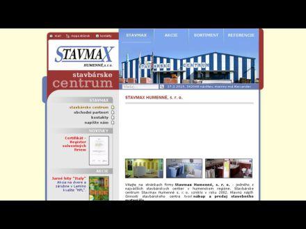 www.stavmaxhumenne.sk
