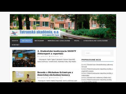 www.tatranskaakademia.sk
