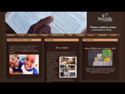 www.wycliffe.sk