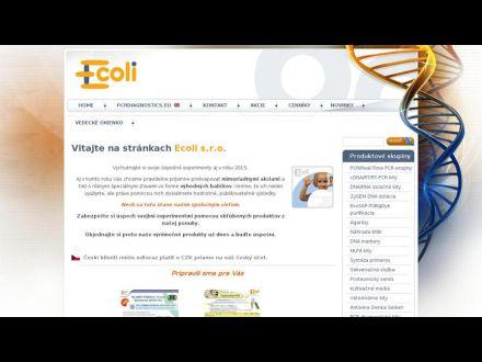 www.ecoli.sk