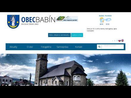 www.babin.sk