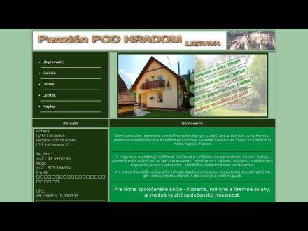 www.penzion-podhradom.sk