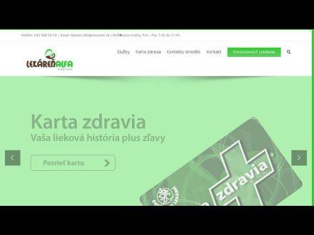 www.lekarenalfa.sk