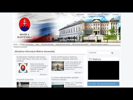 www.matica.sk