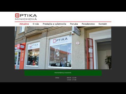 38eccf25a Zdenka Minichová - Očná optika, 971 01 Prievidza, 046 / 543 29...