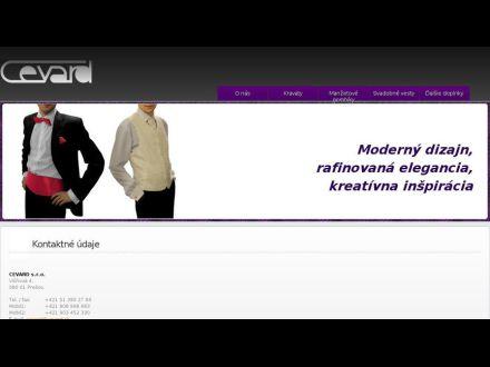 www.cevard.sk