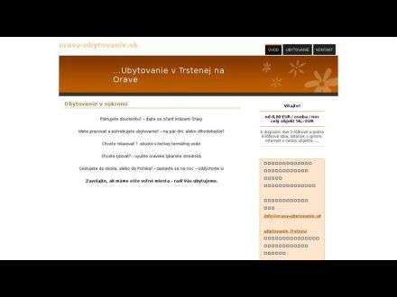 www.orava-ubytovanie.sk