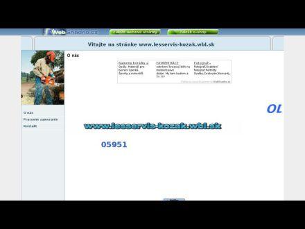 www.lesservis-kozak.wbl.sk