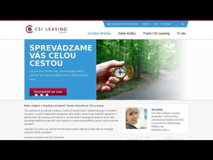 www.csi-leasing.sk