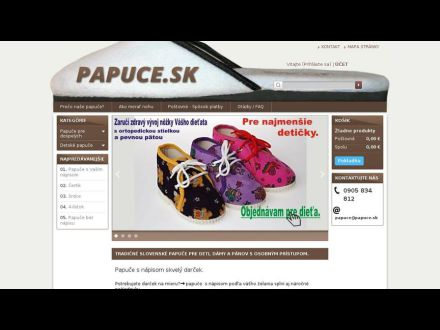 www.papuce.sk