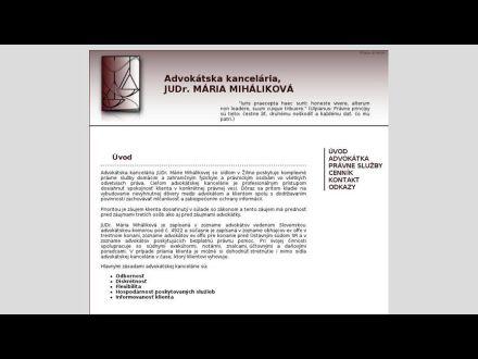 www.advokat-mihalikova.sk