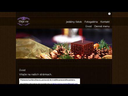 www.dejavurestaurant.sk