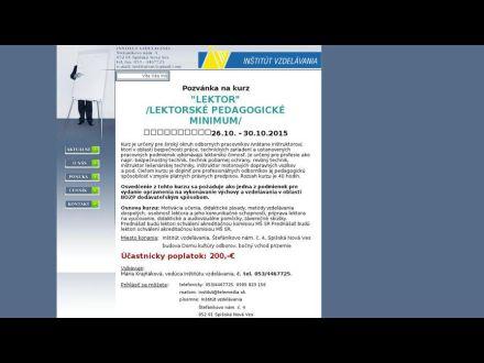 www.institutvzdelavania.eu
