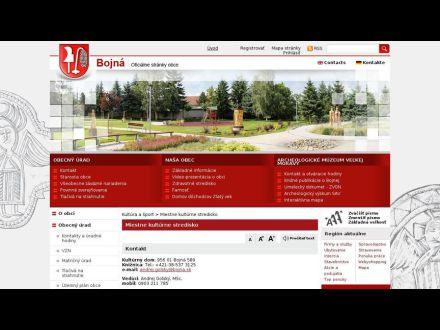 www.bojna.sk/miestne-kulturne-stredisko.phtml