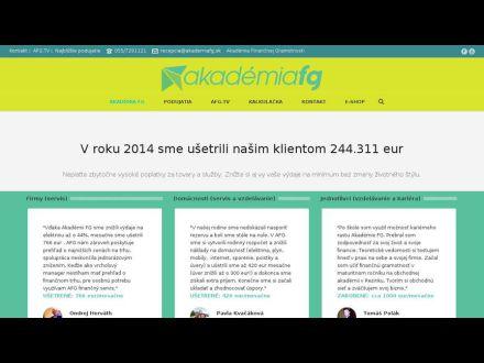 www.akademiafg.sk