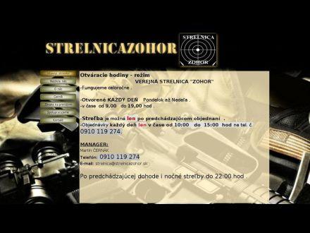 www.strelnicazohor.sk