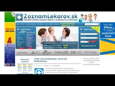 www.zoznamlekarov.sk