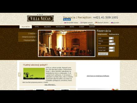 www.villanecas.sk
