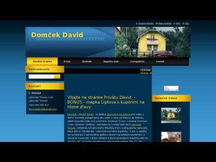 www.domcekdavid.webnode.sk