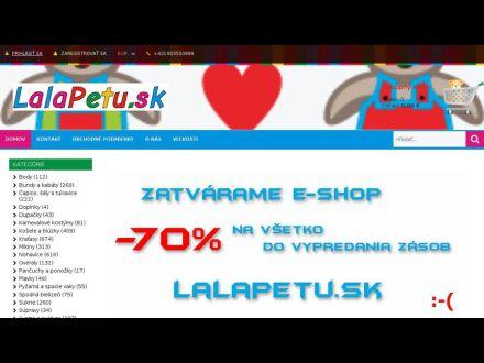www.lalapetu.sk