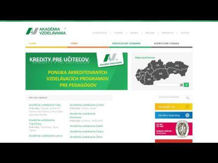 www.akademiavzdelavania.sk