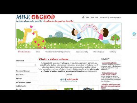 www.mileobchod.sk