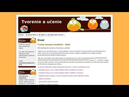 www.tvorenieaucenie.webaster.sk