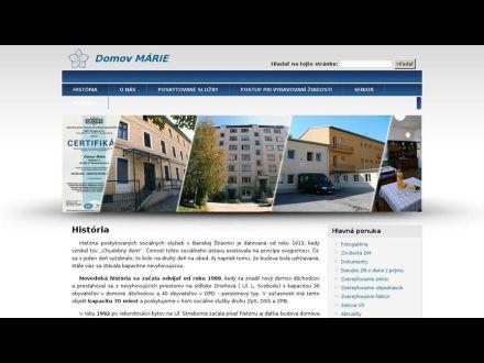 www.domovmarie.sk