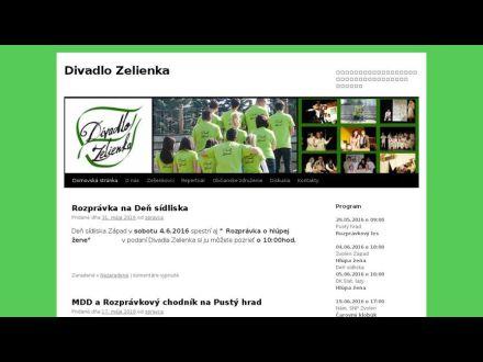 www.divadlozelienka.sk